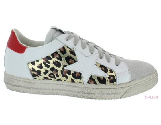 BUP1763 blanc-léopard