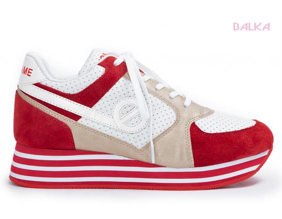 Parko rouge/blanc