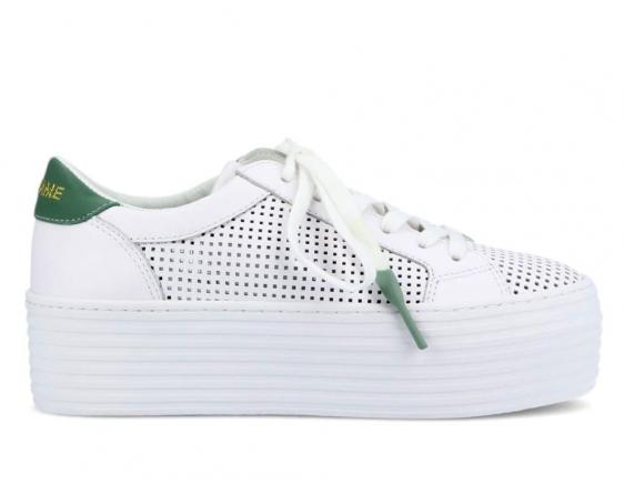Spice sneaker perfo blanc