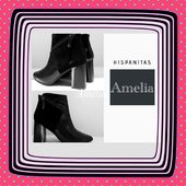 Hispanitas,la bottine Amélia avec le zip en diagonale : fantaisie magnifique. #hispanitas#shoesaddict#shoestyle#black#winteriscoming#winter