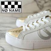 Très jolie version du modèle Arcade, en cuir blanc et python gold, cela change du tout blanc 💛🤍💛🤍💛 #sneakers #sneakersaddict #womenshoes #autumn21 #onadore No Name Shoes www.balka.fr