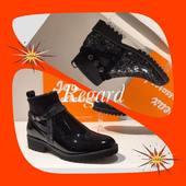 REGARD les boots en 2 matières. Boots#fashion #shoesaddict#new#black#